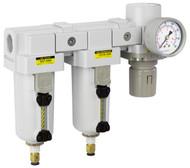 """PneumaticPlus SAU Series Three Stage Air Drying System 3/4"""" NPT (SAU4030M-N06DG-MEP)"""