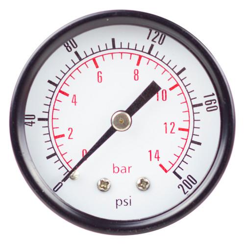 "PneumaticPlus PSB20-160 Pressure Gauge 2"" Dial, 1/4"" NPT, 0-160 PSI"