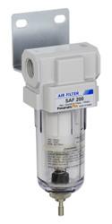 "PneumaticPlus SAF200 Series Particulate Air Filter, 10 Micron 1/4"" NPT with Bracket (SAF200-N02B)"