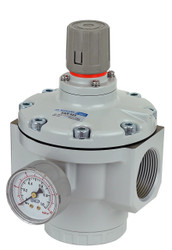 "PneumaticPlus SAR825 Series Air Pressure Regulator Pilot Operated 1-1/4"" NPT with Bracket & Gauge (NEW MODEL)"