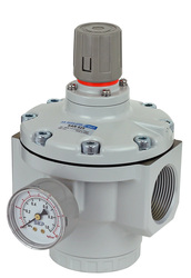 "PneumaticPlus SAR825 Series Air Pressure Regulator Pilot Operated 1-1/2"" NPT with Bracket & Gauge (NEW MODEL)"