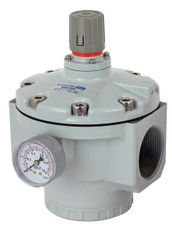 "PneumaticPlus SAR925 Series Air Pressure Regulator Pilot Operated 2"" NPT with Bracket & Gauge (NEW MODEL)"