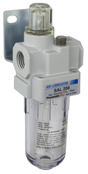 "SAL200 Series Air Lubricator 1/4"" NPT with Bracket (SAL200-N02B)"