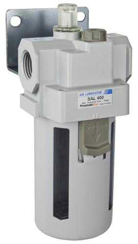 """PneumaticPlus SAL400 Series Air Lubricator 1/2"""" NPT with Bracket (SAL400-N04B)"""
