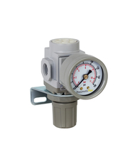 "PneumaticPlus SAR200 Series Air Pressure Regulator 1/4"" NPT with Bracket & Gauge"