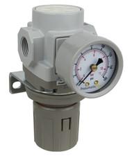 "SAR300 Series Air Pressure Regulator 3/8"" NPT with Bracket & Gauge (SAR300-N03BG)"