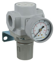 "PneumaticPlus SAR400 Series Air Pressure Regulator 3/4"" NPT with Bracket & Gauge (SAR400-N06BG)"