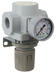 "PneumaticPlus SAR600 Series HIGH FLOW Air Pressure Regulator 3/4"" NPT with Bracket & Gauge (SAR600-N06BG)"