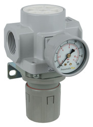 "PneumaticPlus SAR600 Series Air Pressure Regulator 1"" NPT with Bracket & Gauge (SAR600-N10BG)"