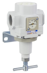 "PneumaticPlus SAR400 Series Air Pressure Regulator T-Handle 3/4"" NPT with Bracket & Gauge (SAR400T-N06BGS)"