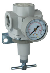 "PneumaticPlus SAR600 Series Air Pressure Regulator T-Handle 1"" NPT with Bracket & Gauge (SAR600T-N10BG)"