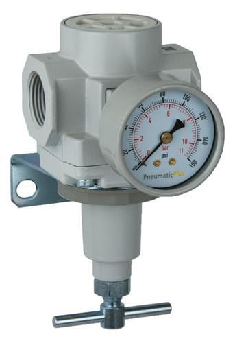 PneumaticPlus SAR600 Series Air Pressure Regulator T-Handle 1