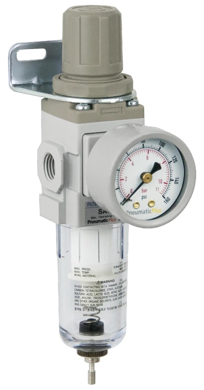 Mini Air Filter Regulator Combo Piggyback Saw200 N02 1 4