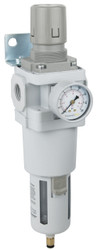 "PneumaticPlus SAW600 Series Air Filter Regulator Piggyback Combo 3/4"" NPT with Bracket & Gauge (SAW600-N06BDG)"