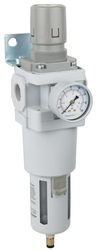 """PneumaticPlus SAW600 Series Air Filter Regulator Piggyback Combo 3/4"""" NPT with Bracket & Gauge (SAW600-N06BDG)"""