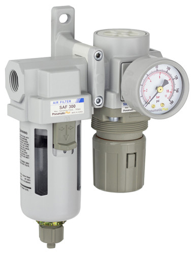 "SAU320 Series Air Filter Regulator Modular Combo 3/8"" NPT with Bracket & Gauge (SAU320-N03G)"