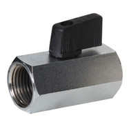 Mini Chrome Plated Brass Ball Valve (Female to Female, Wedge Handle)