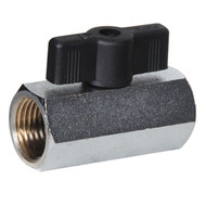 Mini Chrome Plated Brass Ball Valve (Female to Female, T Handle)
