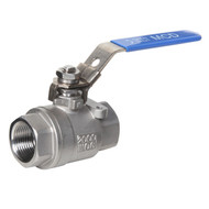 316 Stainless Steel Ball Valve (Female to Female) w/ Locking Handle