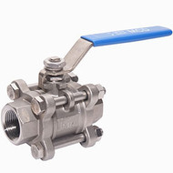 3 Piece Stainless Steel Ball Valve (Female to Female)