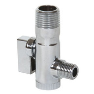 Chrome Plated Compact Ball Valve Strainer Combination (Male to Male)
