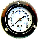 Liquid Filled Gauge Standard Back Flange Mount