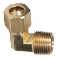 90° Male Union Elbow Brass Compression Fittings (Package of 10)