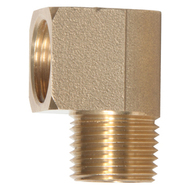 90° Street Elbow Brass Pipe Fittings - Male to Female (Pack of 10)