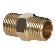 Hex Nipple Brass Pipe Fittings (Package Quantity Varies by Size)