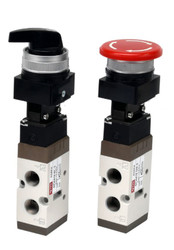 PMEV Series - Panel Mounting Mechanically Actuated Spool Valves