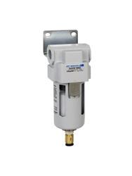 "PneumaticPlus SAFM300 Series Coalescing Air Filter, 0.1 Micron 3/8"" NPT with Bracket (SAFM300-N03BD)"
