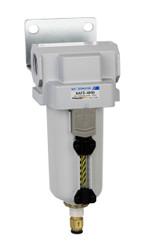"PneumaticPlus SAFD400 Series Coalescing Air Filter, 0.01 Micron 1/2"" NPT with Bracket SAFD400-N04BD-MEP"
