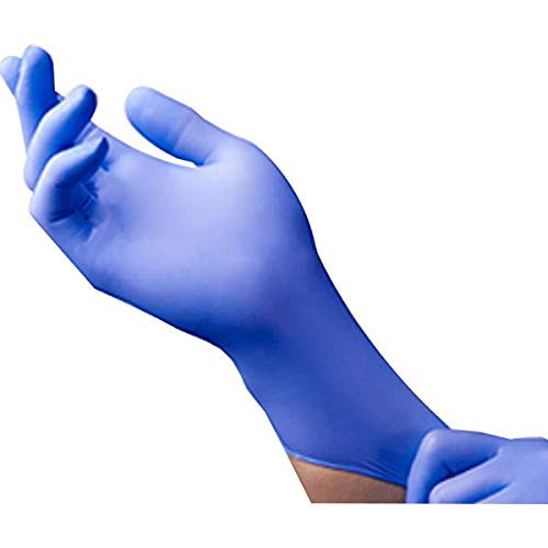 Blue Nitrile Exam Gloves, 6 mil, Medical Grade, Food Safe