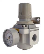 "PneumaticPlus SAR6000M-N10BG 1"" NPT Air Pressure Regulator"