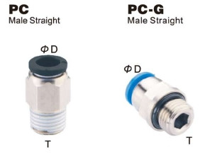 Push to Connect  Composite Air Fitting - Male Straight