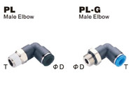 Push to Connect Composite Air Fittings - Male Elbow (PL)