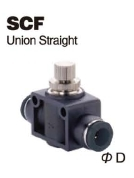 Push-To-Connect Fitting - Air Flow Speed Control Valve - Union Straight
