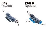 Push-To-Connect Fitting - Male Reducer Triple Branch