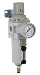 "PneumaticPlus SAW Series Air Filter Regulator Piggyback Style 1/2"" NPT (SAW4000M-N04BDG-MEP)"