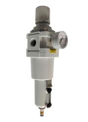 "PneumaticPlus SAW Series Air Filter-Regulator Combo Piggyback 1"" NPT"