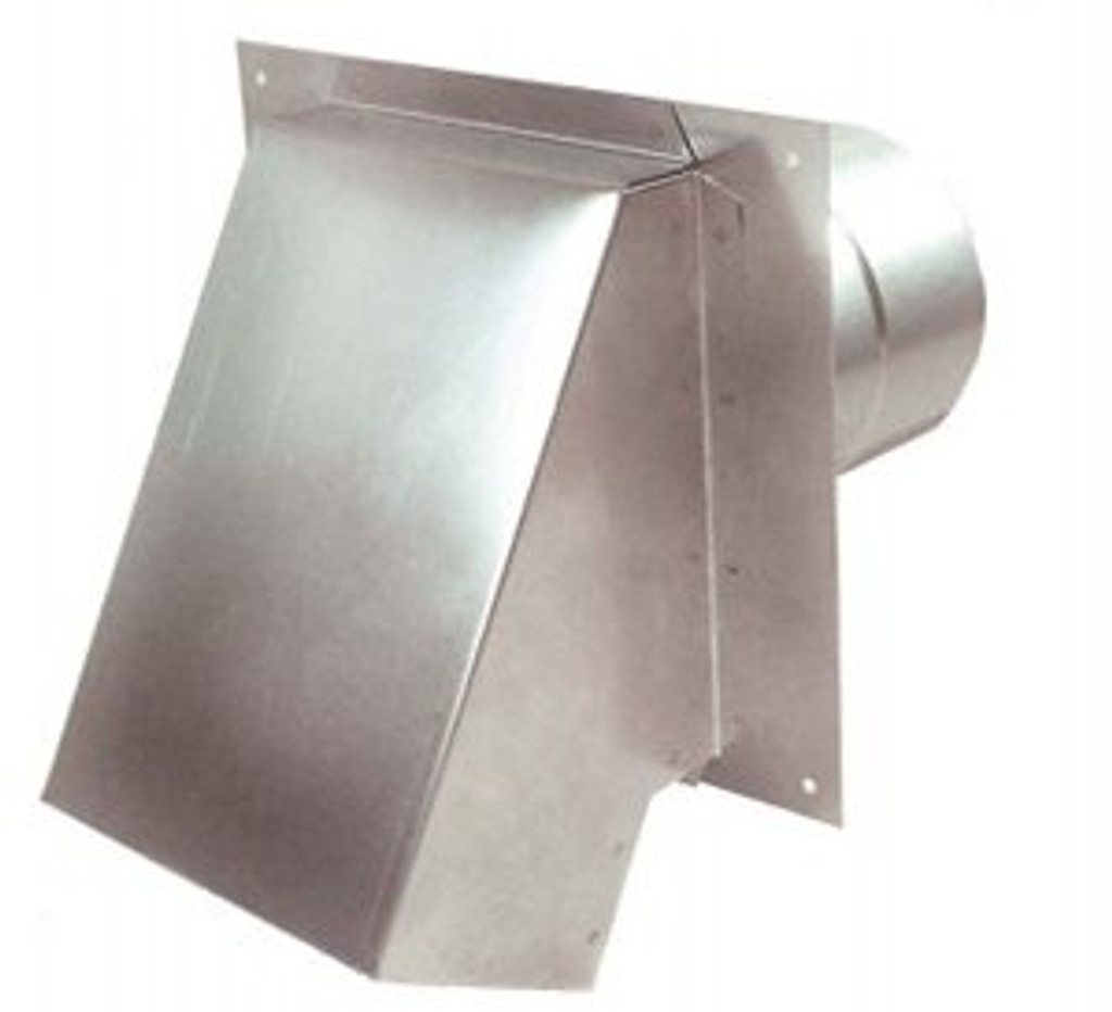 """3"""" Termination Vent Hood Side View"""