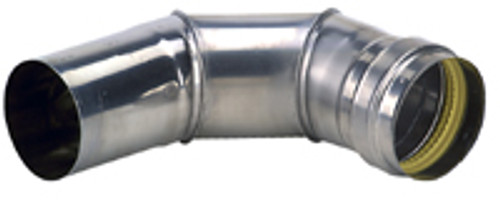 "Eccotemp 3"" x 90 Degree Elbow Side View"
