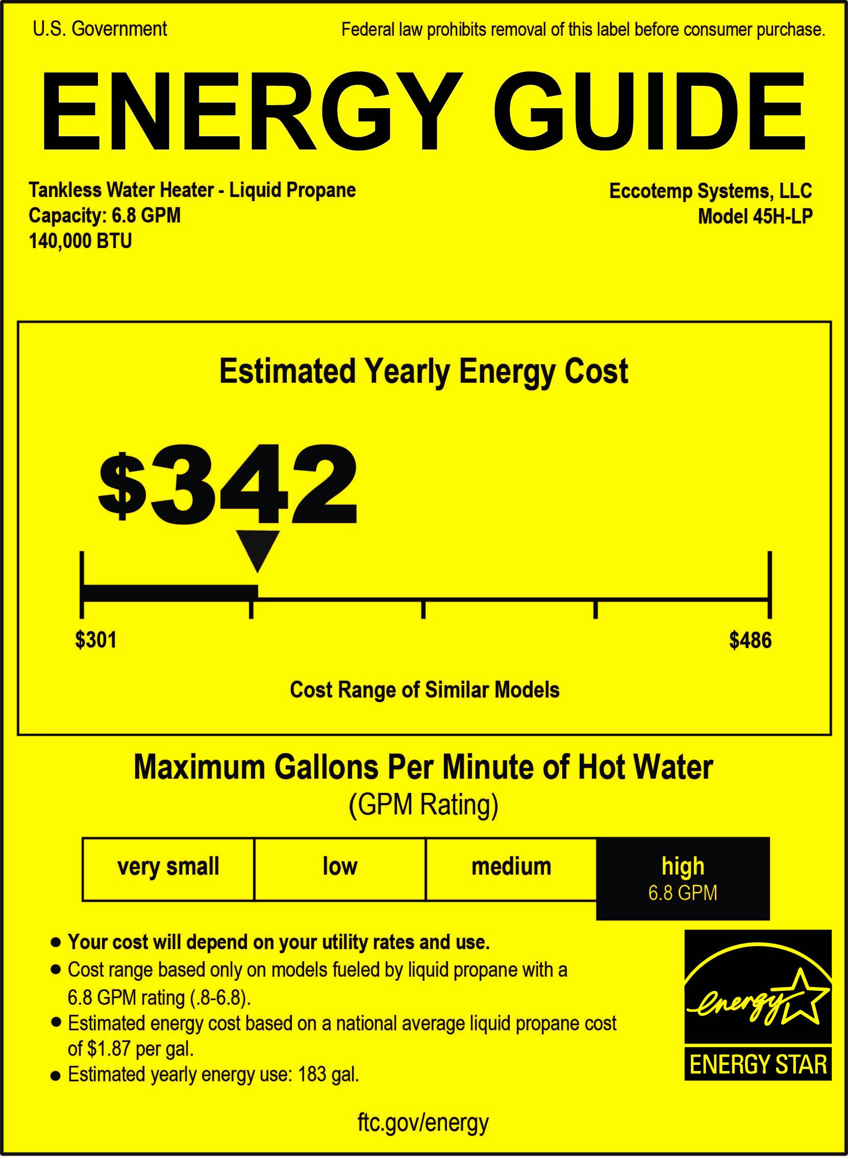 Eccotemp 45h Lp Tankless Water Heater Eccotemp Tankless