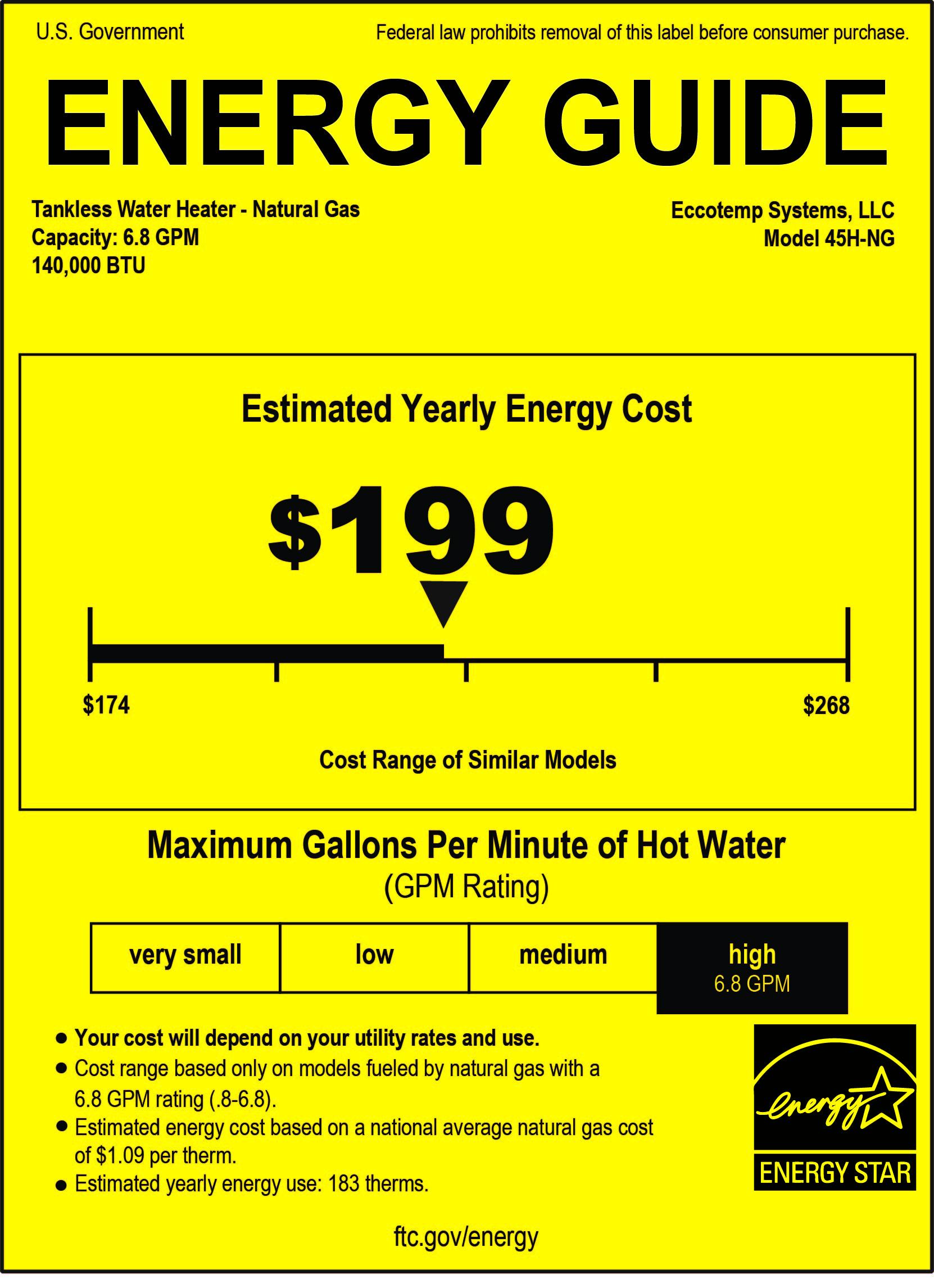 Eccotemp 45h Ng Tankless Water Heater Eccotemp Tankless
