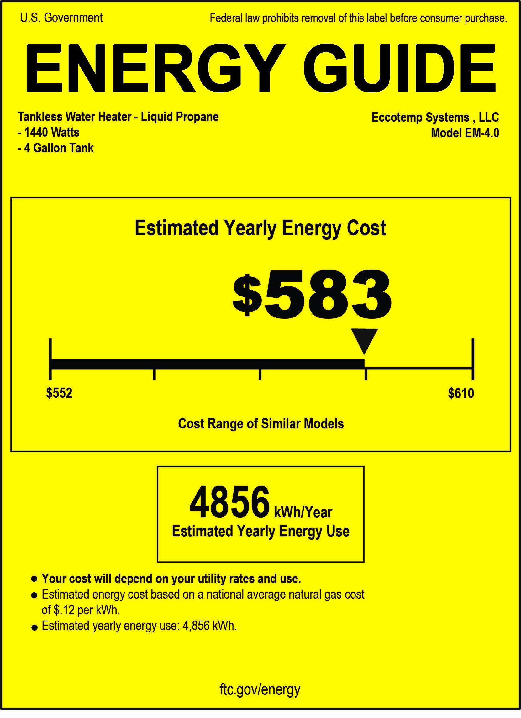 Cost Water Heater Eccotemp Em 40 Mini Storage Tank Water Heater