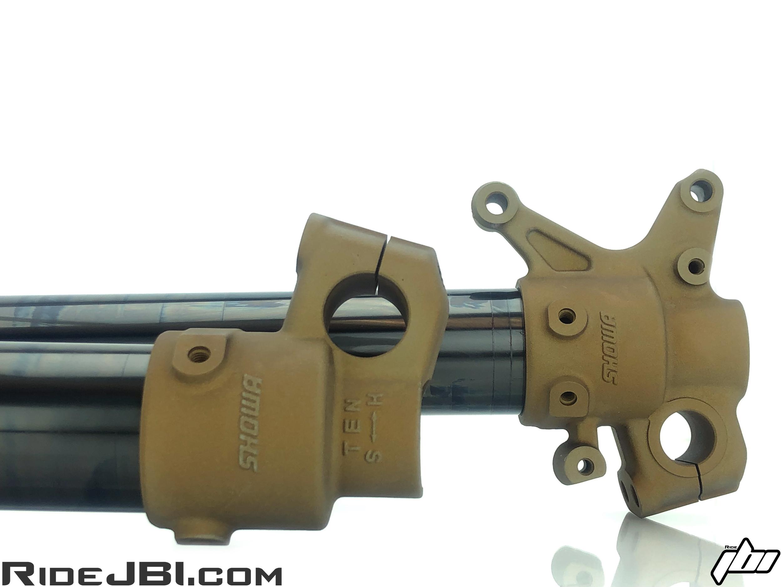 JBI Suspension hard anodize gold fork lugs
