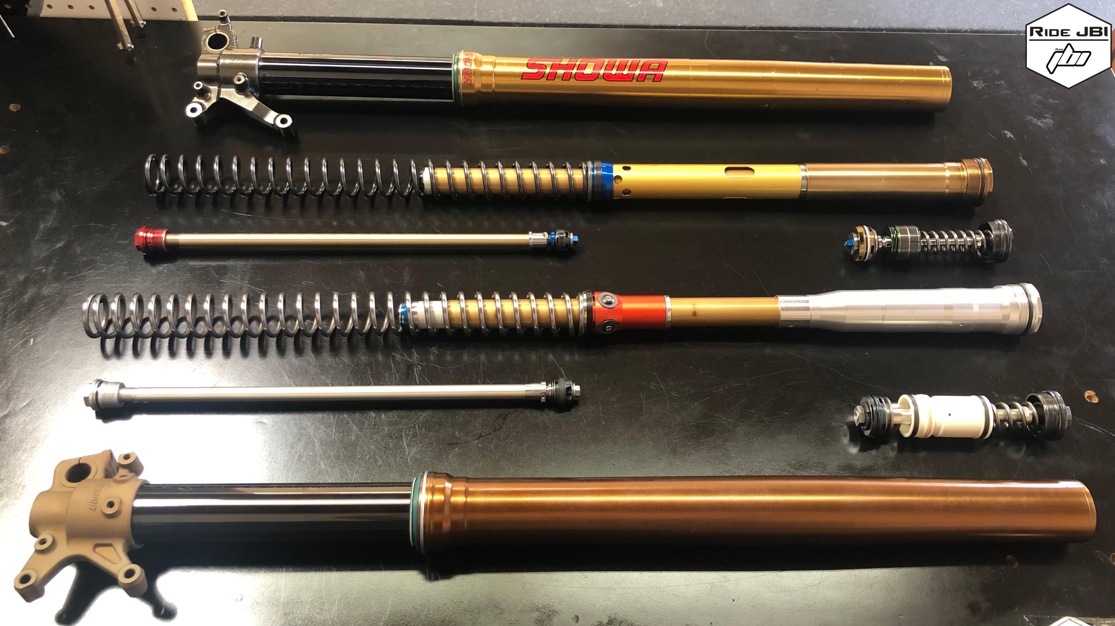 A Kit Showa 49mm Fork vs OEM Showa 49mm Spring Fork
