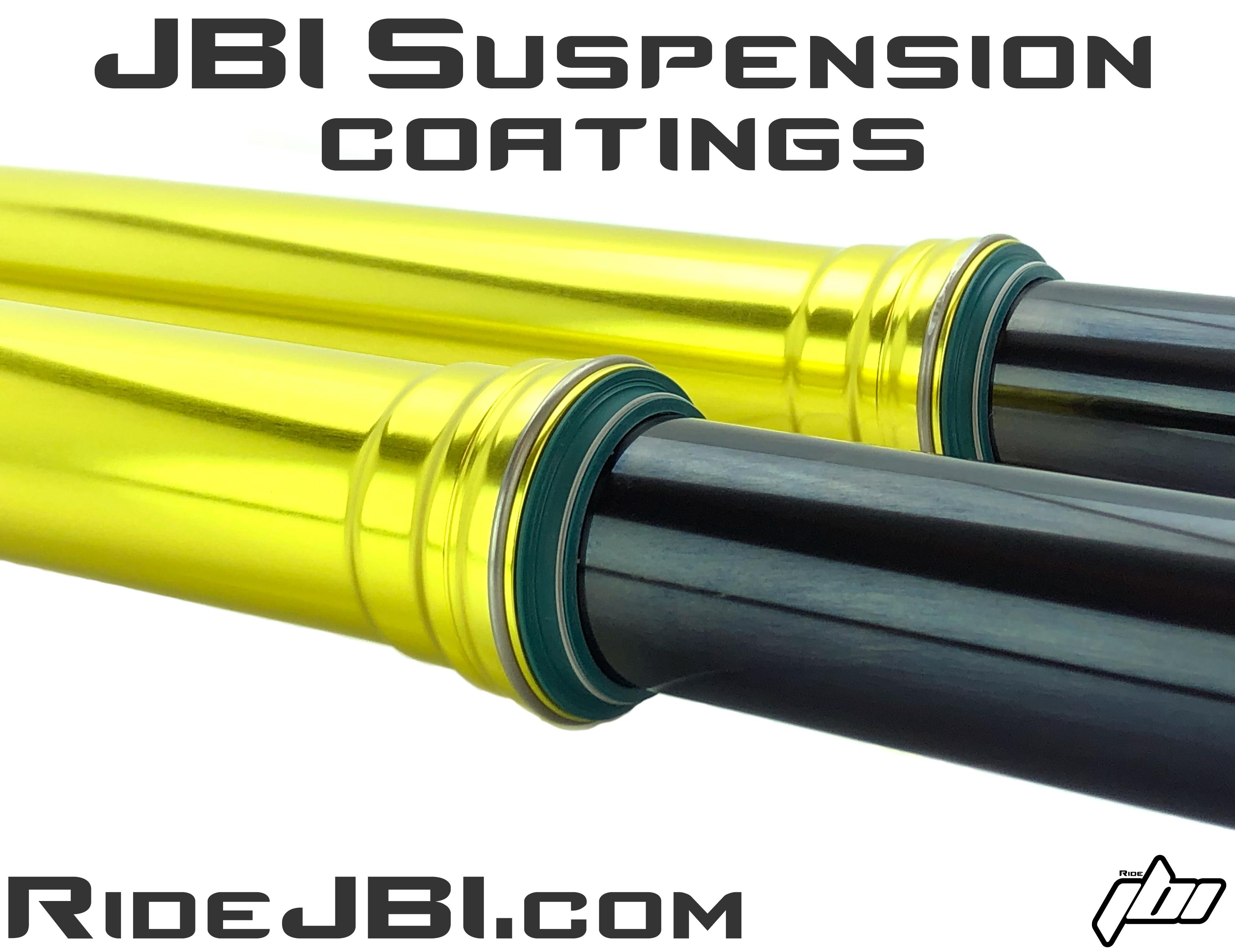 JBI Suspension Fork Shock Hard Anodize coatings