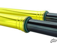 JBI Suspension hard anodize Factory Yellow outer fork tubes