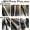 JBI Suspension Pro Polish chrome fork tubes and shock shaft before after